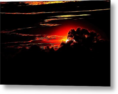 Altered Sunset Metal Print