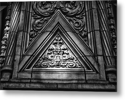 Alwyn Court Building Detail 13 Metal Print by Val Black Russian Tourchin