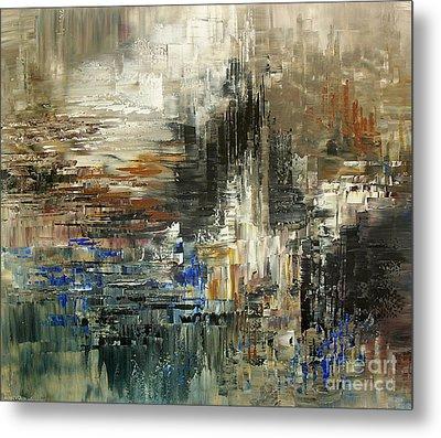Metal Print featuring the painting Amalia Glacier by Tatiana Iliina