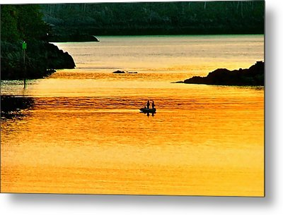 Amber Angling Metal Print by Brent Sisson