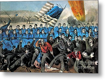 American Civil War, Battle Of Malvern Metal Print by Photo Researchers