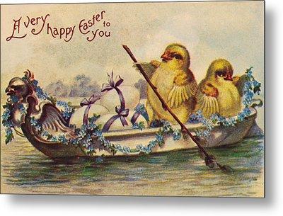 American Easter Card Metal Print by Granger