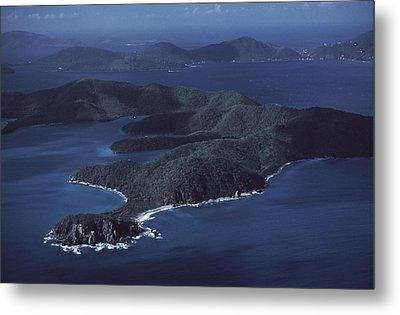 An Aerial Of Saint John Island Metal Print by Ira Block