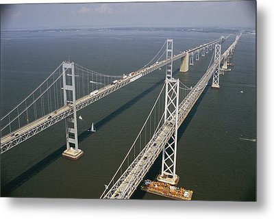 An Aerial View Of The Chesapeake Bay Metal Print