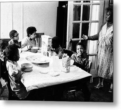 An African American Mother Serves Six Metal Print