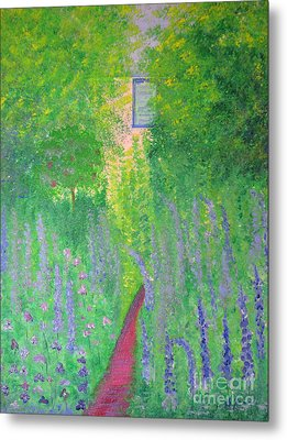 Metal Print featuring the painting An Artist's Cottage by Stacey Zimmerman
