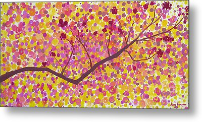 Metal Print featuring the painting An Autumn Moment by Stacey Zimmerman