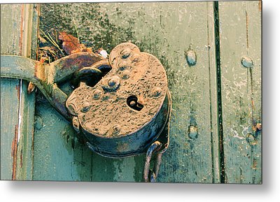 Metal Print featuring the photograph Old Lock by Katie Wing Vigil