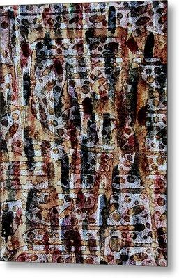 Ancient Etch Metal Print by TB Schenck