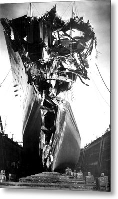 Andrea Doria Disaster. This Head-on Metal Print by Everett
