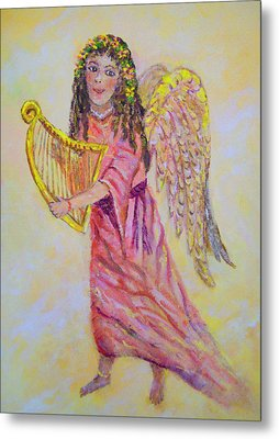 Metal Print featuring the painting Angel by Lou Ann Bagnall