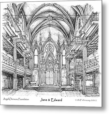 Angel Orensanz Jane And Edward's Wedding Metal Print