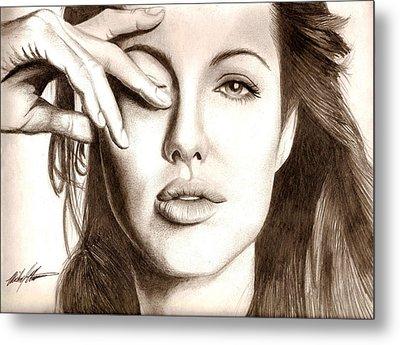Angelina Jolie Metal Print by Michael Mestas
