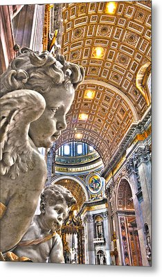 Angels At The Vatican Metal Print by Michael Yeager