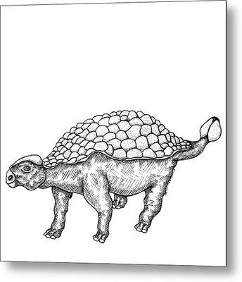 Ankylosaurus - Dinosaur Metal Print by Karl Addison