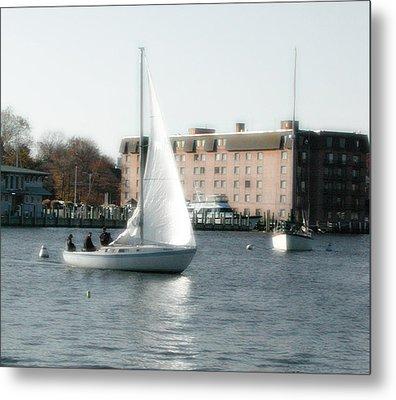 Annapolis Sail Boat Metal Print