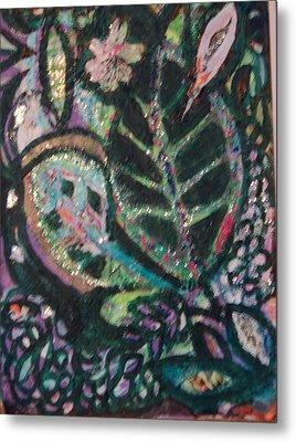 Anne Imagines Abstract Leaves Metal Print by Anne-Elizabeth Whiteway