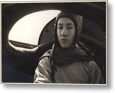 Anne Morrow Lindbergh Inside The Rear Metal Print by Everett