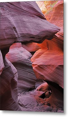 Antelope Canyon - Canvas For Nature's Compositions Metal Print by Christine Till