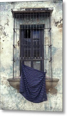 Metal Print featuring the photograph Antigua Window Guatemala by John  Mitchell