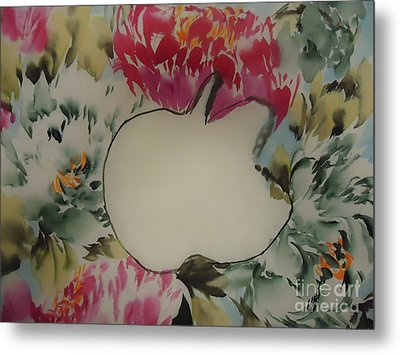 Metal Print featuring the painting Apple by Dongling Sun
