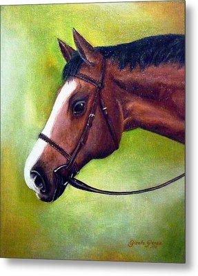 Arabian Horse Metal Print by Gizelle Perez