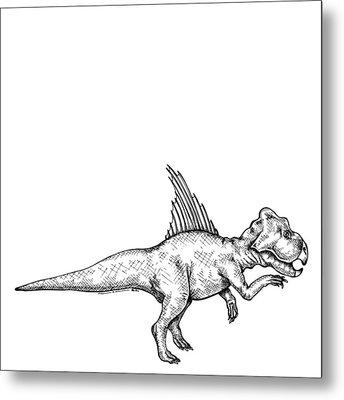 Archaeoceratops - Dinosaur Metal Print by Karl Addison