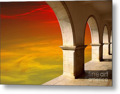 Arches At Sunset Metal Print by Carlos Caetano