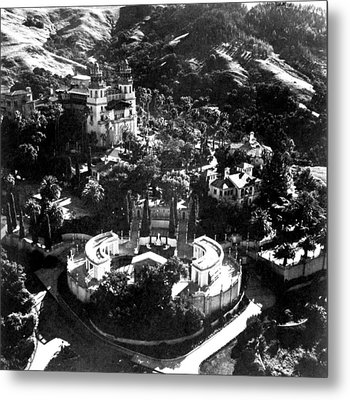 Arial View Of Hearst Castle, San Metal Print by Everett
