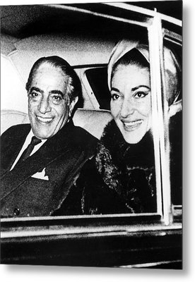 Aristotle Onassis And Maria Callas Metal Print by Everett