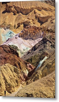 Artist's Palette At Death Valley Metal Print by Levin Rodriguez