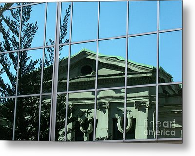 Metal Print featuring the photograph Arty Reflection Vancouver Canada by John  Mitchell