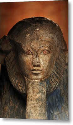 As A Sphinx, Hatshepsut Displays Metal Print by Kenneth Garrett
