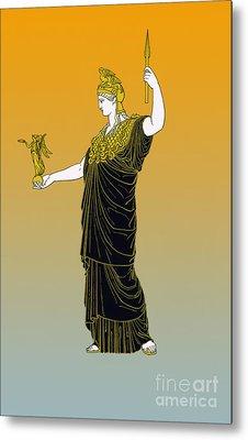 Athena, Greek Goddess Metal Print by Photo Researchers