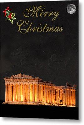 Athens Merry Christmas Metal Print by Eric Kempson