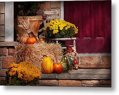 Autumn - Gourd - Autumn Preparations Metal Print by Mike Savad