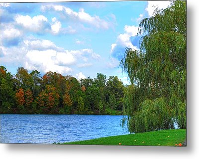 Metal Print featuring the photograph Autumn At Hoyt Lake by Michael Frank Jr