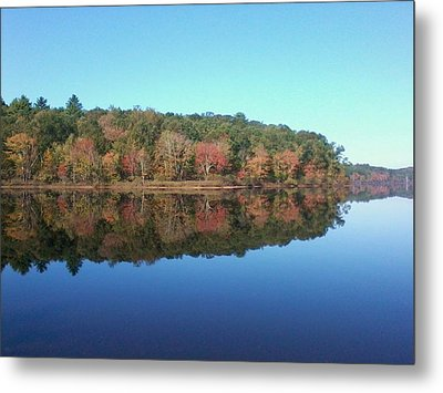 Metal Print featuring the photograph Autumn Mirror by Edwin Alverio