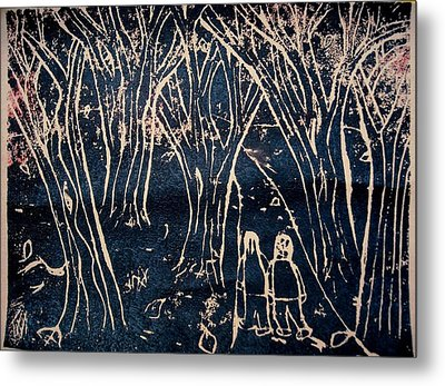 Autumn Night Hike Metal Print by Ward Smith