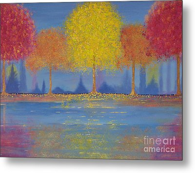 Metal Print featuring the painting Autumn's Bliss by Stacey Zimmerman