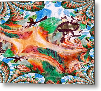 Avatar Two Abstract Aircraft Metal Print