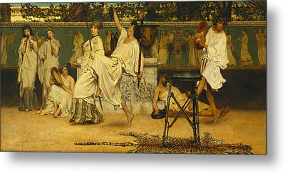 Bacchanal Metal Print by Sir Lawrence Alma-Tadema