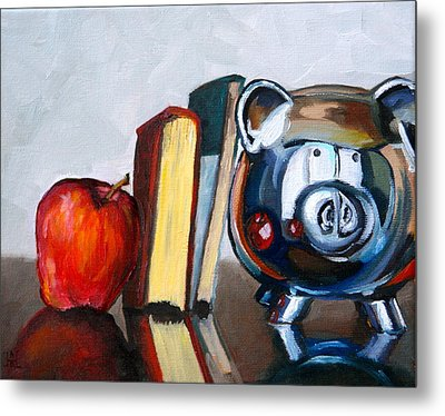 Back To School Metal Print by Amy Higgins