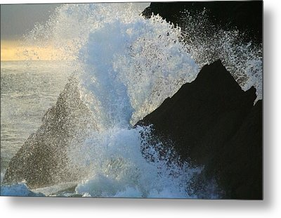 Backlit Wave 2 Metal Print by Michael Courtney