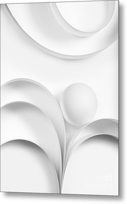 Ball And Curves 02 Metal Print by Nailia Schwarz