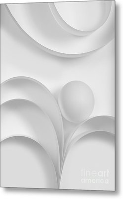 Ball And Curves 03 Metal Print by Nailia Schwarz