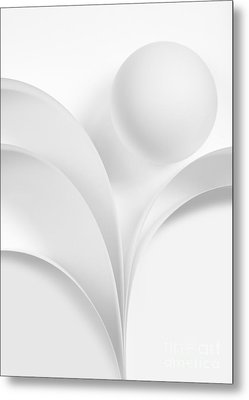 Ball And Curves 06 Metal Print by Nailia Schwarz