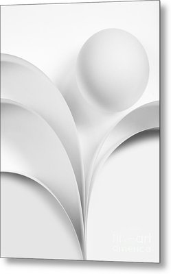 Ball And Curves 07 Metal Print