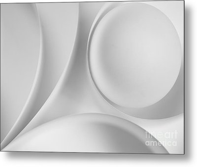 Ball And Curves 09 Metal Print by Nailia Schwarz