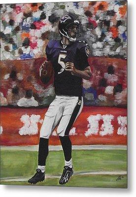 Baltimore Ravens Joe Flacco Metal Print by Kim Selig